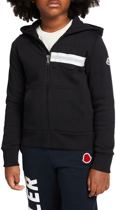 Moncler KB Maglia Zip-Up Hooded Cardigan, Size 4-6