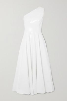 Alex Perry Steele One-shoulder Stretch-vinyl Midi Dress - White