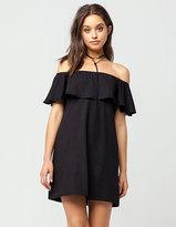 Full Tilt Off The Shoulder Ruffle Dress