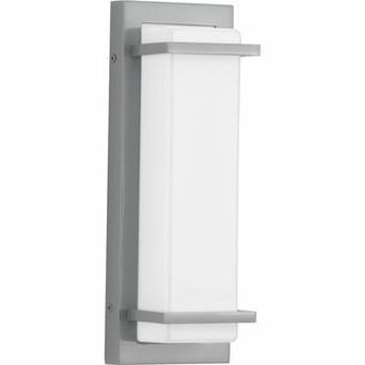 "Latitude Run Bessoir 1 - Bulb 13"" H Integrated LED Outdoor Flush Mount Fixture Finish: Metallic Gray"