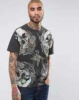 AllSaints T-Shirt With Skull Print