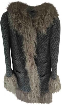 Dolce & Gabbana Grey Wool Coat for Women