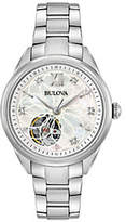 Bulova Women's Stainless Diamond Automatic Move