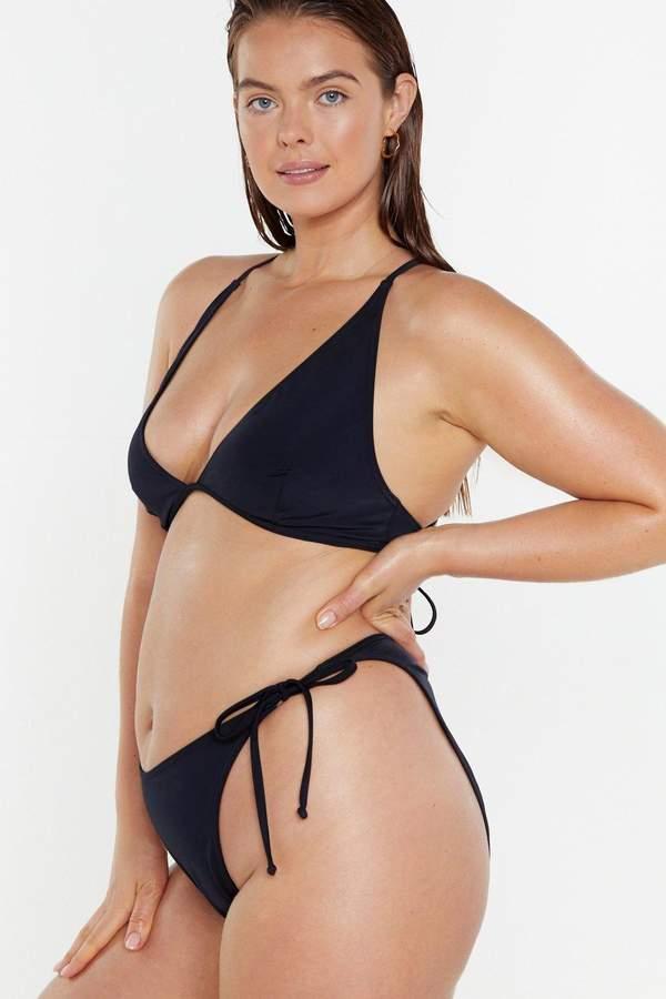 5c1f3a0cf0 Black Bikini Bottoms ]strappy - ShopStyle UK