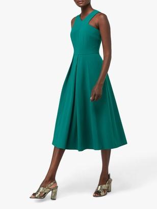 Monsoon Penelope Midi Occasion Dress, Green