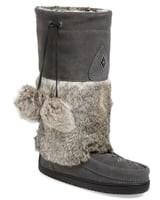 Manitobah Mukluks 'Snowy Owl' Genuine Fur & Suede Mukluk