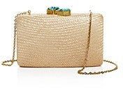 Kayu Jen Stone Closure Woven Convertible Clutch