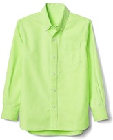 Neon oxford long sleeve shirt