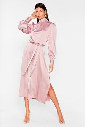 Nasty Gal Womens Sleek Your Heart Belted Midi Dress - Purple - 10