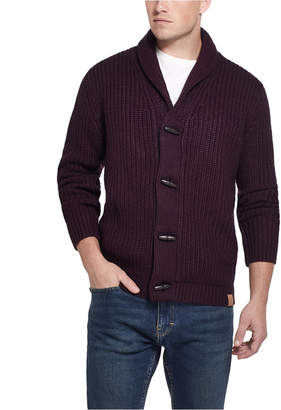Weatherproof Vintage Inspired Men Ribbed Cardigan with Toggles