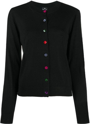 Paul Smith Floral Buttons Cardigan