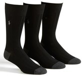 Polo Ralph Lauren Men's 3-Pack Ribbed Socks