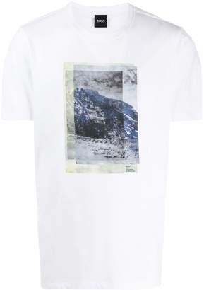 HUGO BOSS Tiburt layered print T-shirt