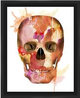 PTM Images Watercolor Skull Framed Print