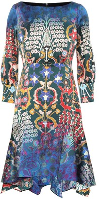 Peter Pilotto Floral stretch silk dress