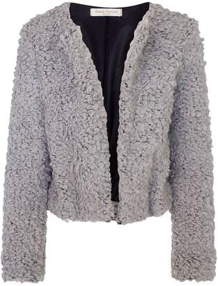 Haris Cotton Wool Blend Cropped Jacket Grey