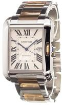 Cartier 'Tank Anglaise GM Rose Gold/Steel' analog watch