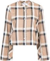 Derek Lam 10 Crosby wide sleeve cropped shirt