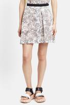Julien David Beaded Waist Raschel Lace Skirt