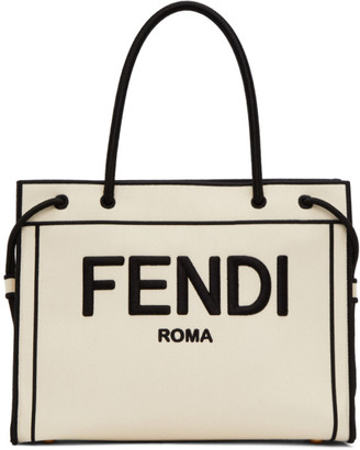 Fendi Off-White Medium Shopper Tote