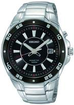 Seiko Men's Stainless Steel Analog with Dial Watch Black SKA433