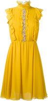 Giambattista Valli ruffled detail flared dress