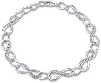 Concerto Diamond and Sterling Silver Infinity Link Bracelet