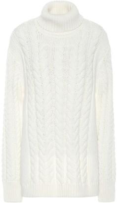 Tibi Cable Bareback wool-blend sweater