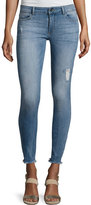 DL1961 Emma Power Flash Raw-Hen Legging Jeans, Indigo