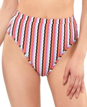 Jessica Simpson Got The Groove High-Waist Bikini Bottoms Women's Swimsuit