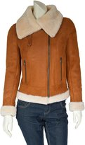 House of Leather Ladies Real Shearling Merino Sheepskin Jacket Aviator Fitted Style Isabelle