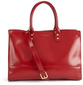 Lulu Guinness Women's Medium Daphne Polished Leather Tote Bag Red
