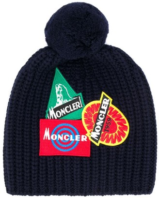 Moncler multi-patch knitted hat