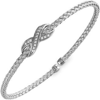 Charles Garnier Paris Infinity Sterling Silver Crystal Bangle Bracelet