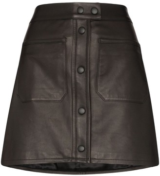 Frame Patch Pocket Mini-Skirt