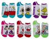 Peanuts Women's Snoopy Low-Cut 6-Pack Socks - White 9-11