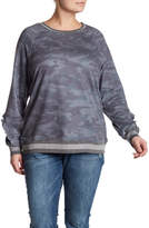 Democracy Ruffled Camo Sweatshirt (Plus Size)