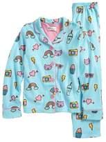 PJ Salvage Girl's Two-Piece Fleece Pajamas