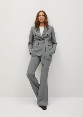 MANGO Micro houndstooth suit blazer grey - 8 - Women