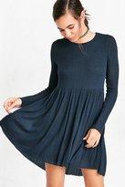 Kimchi & Blue Kimchi Blue Vidal Cozy Long-Sleeve Babydoll Mini Dress