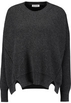 Jil Sander Cutout Ribbed Wool And Cashmere-Blend Sweater