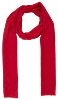 Christian Dior Red Logo Printed Scarf