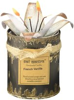 Bali Mantra Tin with White Lilly Lid, 9 oz - French Vanilla