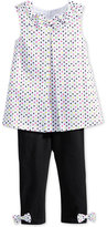 First Impressions Baby Girls' Dot-Print Tunic & Black Leggings Set, Only at Macy's