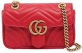 Gucci MINI GG MARMONT 2.0 LEATHER SHOULDER BAG