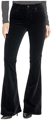 AG Jeans Quinne High Rise Flare in Super Black (Super Black) Women's Casual Pants