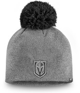 Women's Fanatics Branded Gray Vegas Golden Knights Versalux Marled Tech Knit Beanie with Pom