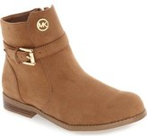 MICHAEL Michael Kors 'Emma Callie' Buckle Strap Bootie (Little Kid & Big Kid)