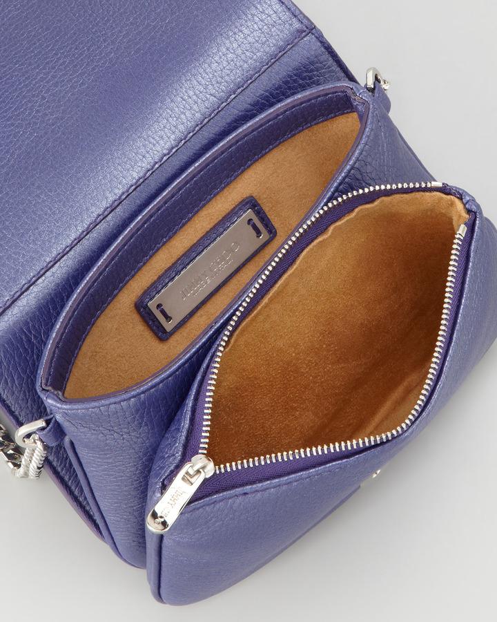 Jimmy Choo Shadow Leather Crossbody Bag, Violet