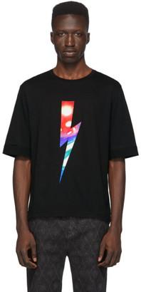 Neil Barrett Black City Lights Lighting Bolt T-Shirt